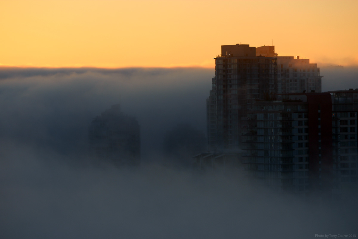 Torry Courte Fog Cityscape photograph