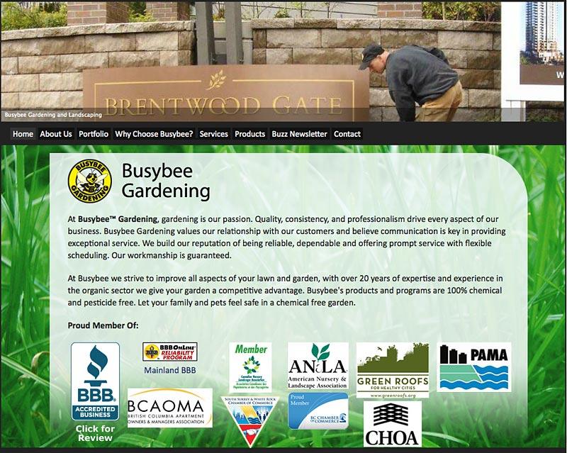Torry Courte Busybee Gardening Website Development