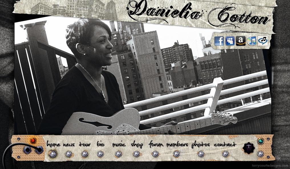 Danielia Cotton Website Menu by Torry Courte